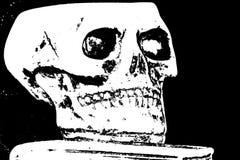 在一本古老书上的头骨 库存照片