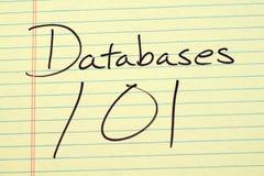 在一本黄色便笺簿的数据库101 库存图片