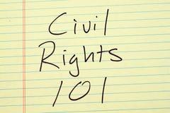 在一本黄色便笺簿的民权101 图库摄影