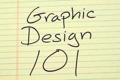 在一本黄色便笺簿的图形设计101 免版税图库摄影