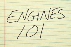 在一本黄色便笺簿的引擎101 库存图片