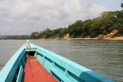 看在Usumacinta河下在恰帕斯州,墨西哥 库存照片