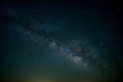 在一条北得克萨斯高速公路的银河 免版税图库摄影
