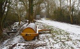 在一条多雪的苏克塞斯车道 库存图片
