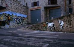 在一条街道的图画在意大利。 免版税库存图片