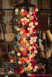 在一条走的街道的五颜六色的装饰品 库存照片