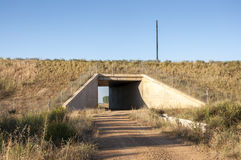 在一条高速铁路的地下过道 免版税库存照片