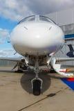 在一架专用喷气机的梯子 库存图片