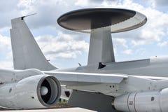 在一架军用飞机的雷达天线 图库摄影