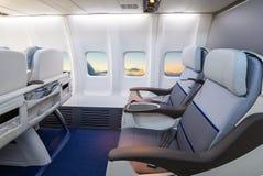 在一架现代飞机的空位 免版税库存图片