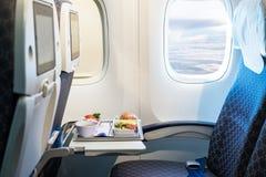 在一架现代飞机的空位 免版税库存照片