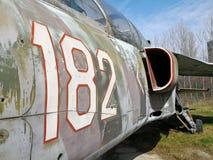 182在一架老飞机上绘的数字 免版税库存照片