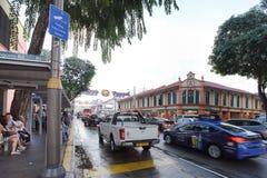 在一点印度镇,新加坡交易情况 免版税库存图片