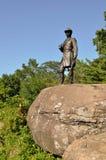 在一点桅顶下桅盘的南北战争纪念碑,在葛底斯堡,宾夕法尼亚 库存照片