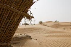 在一片沙漠铺沙样式在迪拜,阿拉伯联合酋长国 库存照片