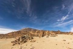 在一片石沙漠的天空 库存照片