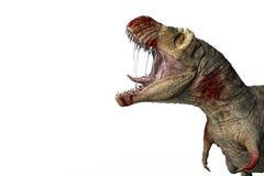 在一白色backgrond的血液rex 皇族释放例证