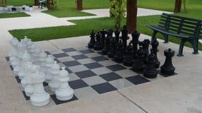 在一种阴部的手段的巨型国际象棋棋局 库存照片