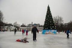 在一自由滑冰场的人乘驾 图库摄影