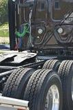 在一辆新的半卡车的细节 免版税库存照片