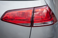 在一辆现代汽车的一个尾灯 免版税库存照片