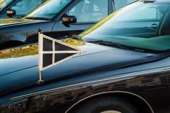 在一辆荷兰语葬礼汽车的正式标志 免版税图库摄影