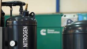 在一黑轻快优雅的氮气 股票视频