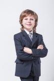 在一经典衣服straigh的精力充沛的年轻成功的商人 库存图片