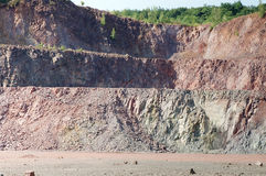 在一件地表矿山猎物的看法 库存照片