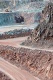 在一件地表矿山猎物的看法 免版税库存照片