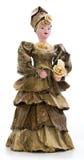 在一件礼服的玩偶从香蕉叶子 库存照片