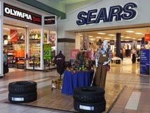 在一致,新罕布什尔的Steeplegate购物中心 库存图片