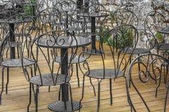 在一cafè外面在Parenzo欧洲 免版税库存照片