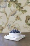 蓝莓在家 免版税库存照片