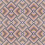 在万圣夜传统颜色的无缝的样式 明亮的种族抽象背景 免版税库存照片