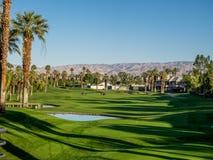 在万豪别墅的高尔夫球,棕榈Desert 库存照片