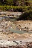 在万鸦老,印度尼西亚附近的亚硫的湖 免版税库存图片
