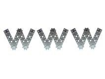 在万维网上写字 免版税库存图片