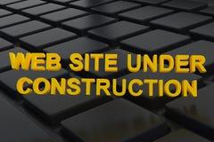 在万维网之下的建造场所 库存图片