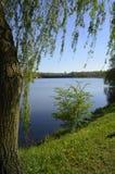 在三个池塘,卡托维兹谷的春天  免版税库存图片