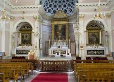 在三个法坛的教会里面,伊斯坦布尔 免版税库存照片