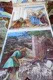 在三位一体主教的座位的壁画绘画,俄罗斯 免版税库存图片