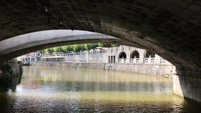 在三倍桥梁卢布尔雅那下 股票视频