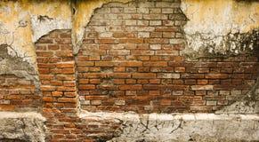 在三宝垄拍的残破的ol砖墙照片印度尼西亚 库存照片