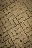 在三宝垄拍的波浪长方形路面纹理照片印度尼西亚 库存图片