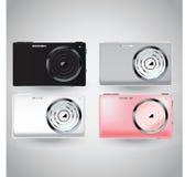 在三种颜色的照相机 图库摄影