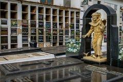 在三藩市de阿席斯Church公墓-圣若昂台尔Rei,米纳斯吉拉斯州,巴西的坦克雷多・内维斯坟茔 库存图片