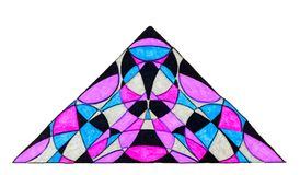 在三角的色的样式 库存图片