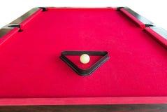 在三角的落袋撞球白色球 免版税库存图片