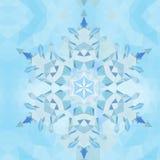 在三角背景的三角抽象几何雪花 模式 免版税库存图片